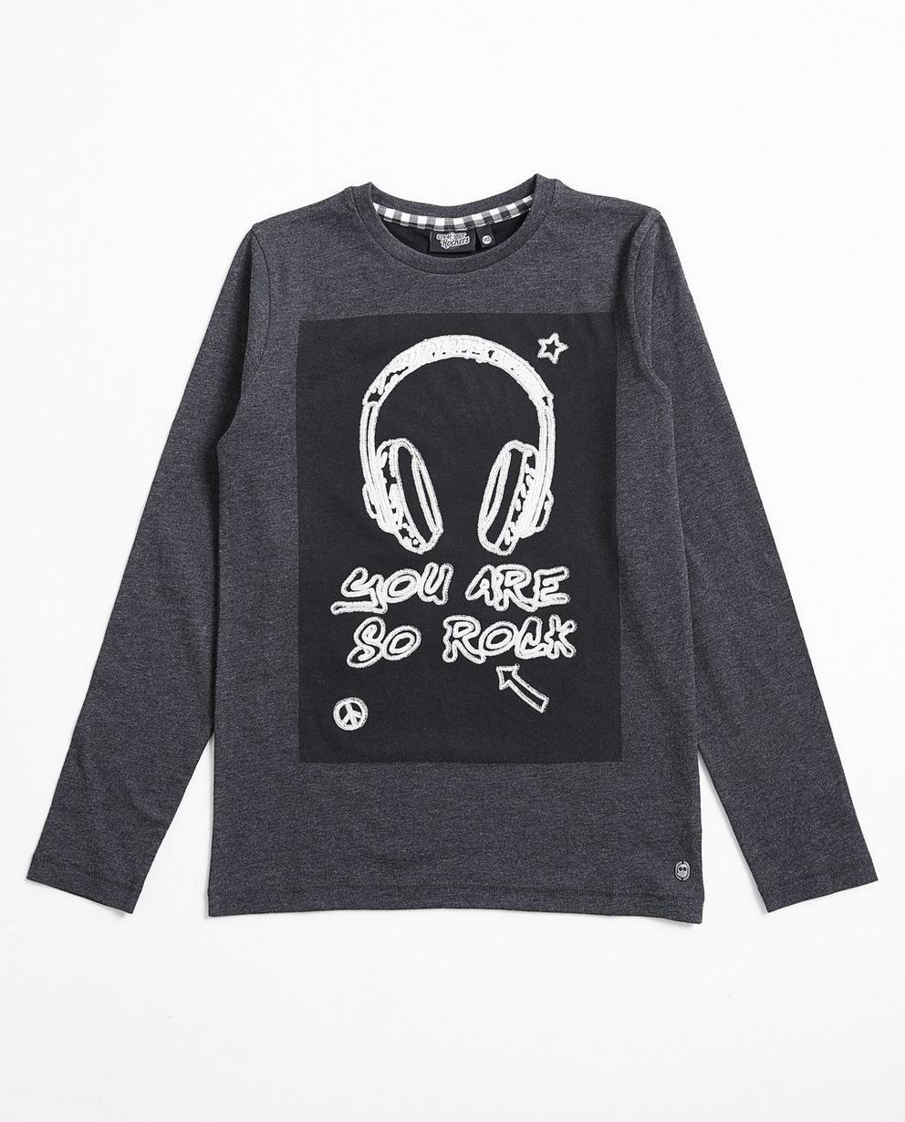 T-shirt à manches longues - imprimé, gris, Ghost Rockers - Ghost Rockers